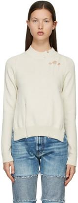 Maison Margiela Off-White Destroyed Sweater