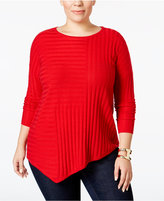 INC International Concepts Plus Size Asymmetrical Sweater, Only at Macy's