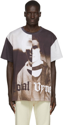 Vyner Articles White and Purple Split Vision T-Shirt