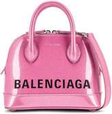 Balenciaga XXS Glitter Ville Top Handle Bag in Old Rose & Black | FWRD