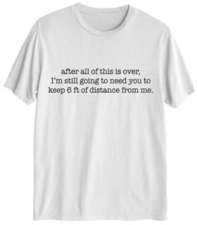 Love Tribe Women's Stay 6 Feet Away T-shirt