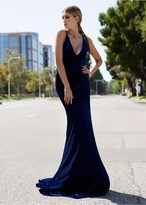 Savee Couture DR5809VT Illegal Curves In Blue Velvet