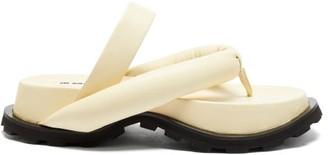 Jil Sander Padded Nappa-leather Flatform Slides - Cream