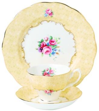 Royal Albert Bouquet 1990 3-Piece Tea Set