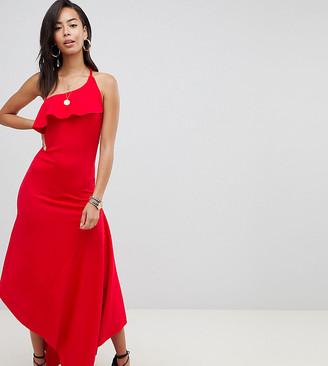 Asos Tall ASOS DESIGN Tall minimal maxi with skinny halter dress