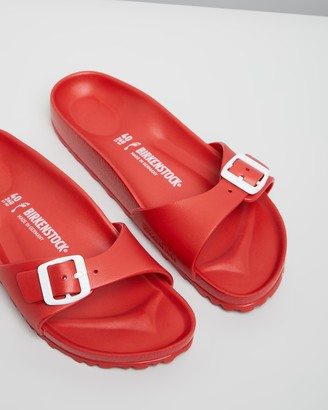 Birkenstock Women's Red Flat Sandals - Womens Madrid EVA Narrow Slides - Size 36 at The Iconic
