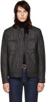 Belstaff Black Coated Denim Weybridge Jacket