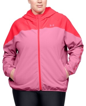 Under Armour Plus Size Zippered Logo Hoodie