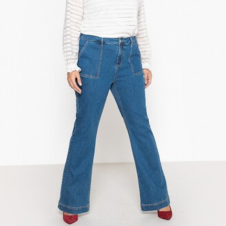 """La Redoute Collections Plus Flared Jeans with Utility Pockets, Length 32"""""""