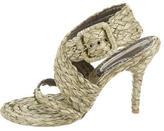 Stella McCartney Raffia Woven Sandals
