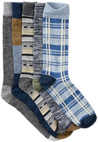 Lucky Brand Die-Cut Pull Out Crew Cut Socks - Pack of 5