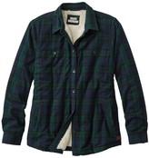 L.L. Bean L.L.Bean Women's Scotch Plaid Shirt, Sherpa-Lined
