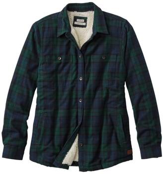 L.L. Bean Women's Scotch Plaid Shirt, Sherpa-Lined
