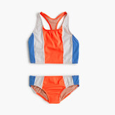 J.Crew Girls' vertical colorblock tankini set