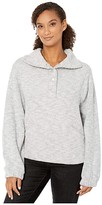 True Grit Dylan By Dylan by Cloud Tipped Cord Long Sleeve Slouchy Pullover with Pockets (Silver) Women's Clothing