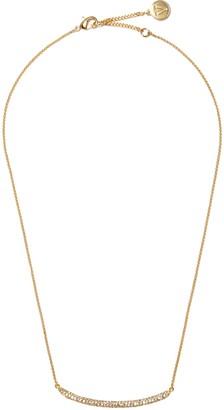 Vince Camuto Goldtone Pave Bar Necklace