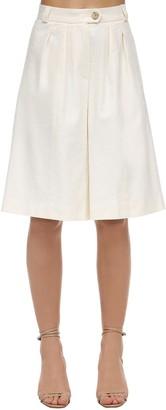 Lesyanebo Linen Bermuda Shorts