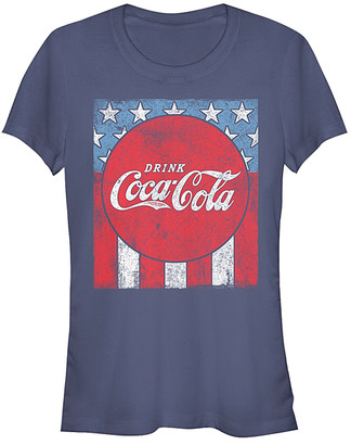 Fifth Sun Women's Tee Shirts NAVY - Coca-Cola Navy USA Flag Tee - Women & Juniors