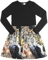 Molo Animals Printed Cotton Jersey Dress