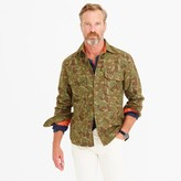 J.Crew Wallace & Barnes wool camo shirt-jacket