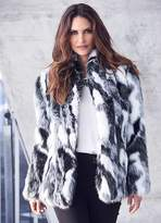Kaleidoscope Mono Animal Faux Fur Jacket