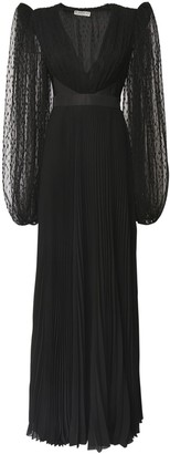 Givenchy Pleated Tulle & Silk Georgette Dress
