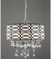 Lightupmyhome Round Drum 4-light Antique Bronze Crystal Chandelier Pendant, Chrome Finish