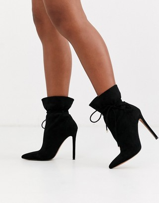 ASOS DESIGN Estonia slouch ankle boots in black