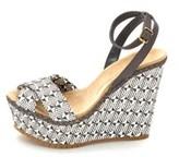 Jean-Michel Cazabat Womens Holly Peep Toe Casual Platform, Grey, Size 5.0.