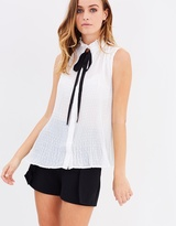 Miss Selfridge Dobby Pleat Blouse