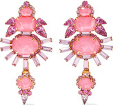 Thumbnail for your product : Elizabeth Cole Henning 24-karat Gold-plated, Swarovski Crystal And Stone Earrings
