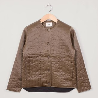 Folk Wadded Loner Quilted Dark Peat - 1