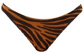 Mara Hoffman Reva Tiger-jacquard Bikini Briefs - Womens - Brown Print