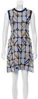 Miu Miu Metallic-Accented Wool Dress