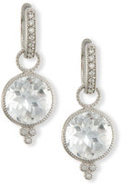 Jude Frances Provence Round White Topaz Earring Charms with Diamonds