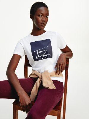 Tommy Hilfiger Organic Cotton Logo Crew Neck T-Shirt