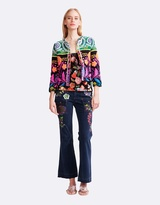 Cynthia Rowley Fringe Trim Jacket