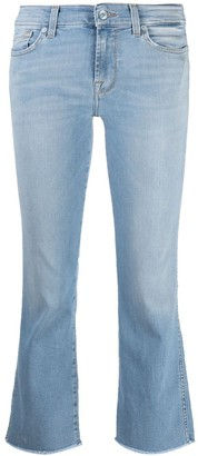 7 For All Mankind Low-Rise Cropped Jeans