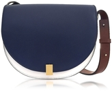 Victoria Beckham Navy Blue, White and Ebony Half Moon Box Shoulder Bag