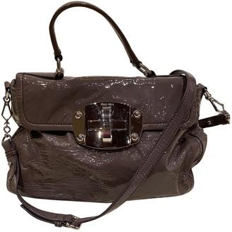 Miu Miu Cleo Brown Patent leather Handbags