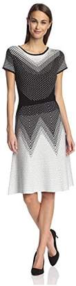 Society New York Women's Optical Jacquard Dress