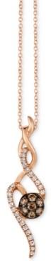 """LeVian Le Vian Chocolatier Diamond 18"""" Pendant Necklace (1/3 ct. t.w.) in 14k Rose Gold"""