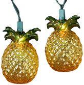 Kurt Adler 10-Light Pineapple Christmas Light Set - Indoor & Outdoor