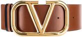 Valentino VLogo Leather Belt in Selleria & Black | FWRD