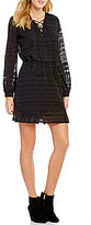 Jessica Simpson Kaylin Lace-Up Peasant Dress