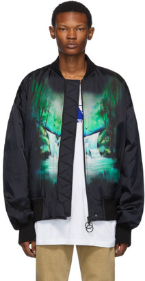 Off-White Black Waterfall Bomber Jacket