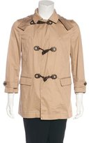 Salvatore Ferragamo Leather-trimmed Toggle Jacket