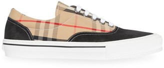Burberry Wilson Vintage Check Canvas Sneakers