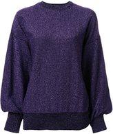 G.V.G.V. glitter effect cuff sleeve sweatshirt