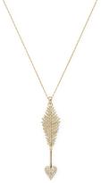 Mizuki Women's 14K Yellow Gold & Diamond Heart Arrow Necklace